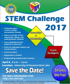 UHCL-STEM Challenge 2017 – April 8, Houston, TX