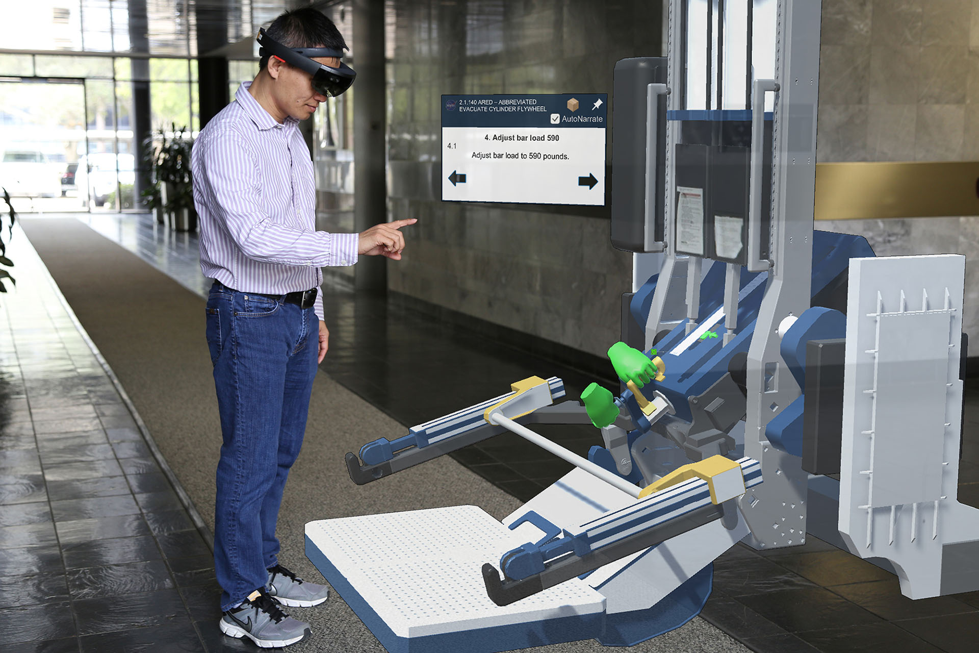 HoloLens - Advanced Resistive Exercise Device (ARED) Maintenance